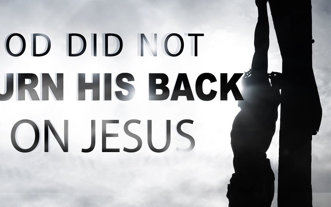 God did NOT turn His back on Jesus
