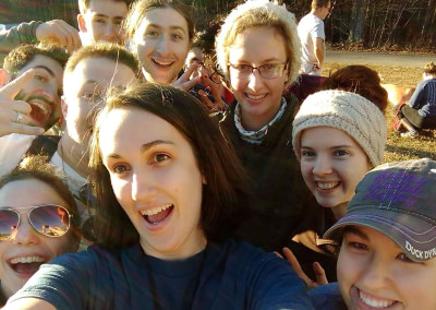 young adults of founded in truth on a group selfie