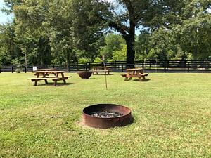 RV campground fire pit
