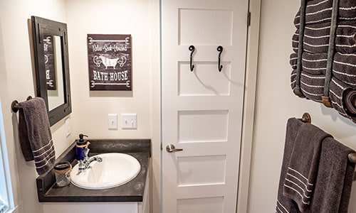 bathroom in a tiny home