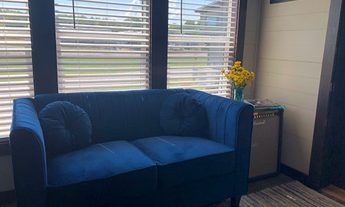 sofa in a tiny house