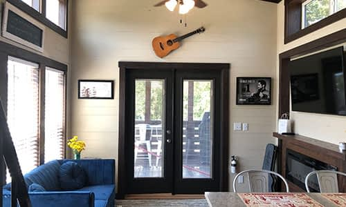 lounge space in a tiny house in nashville