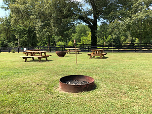 RV campground fire pit