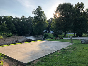 concrete pad rv site near nashville