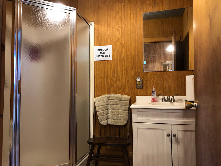 rv site shower