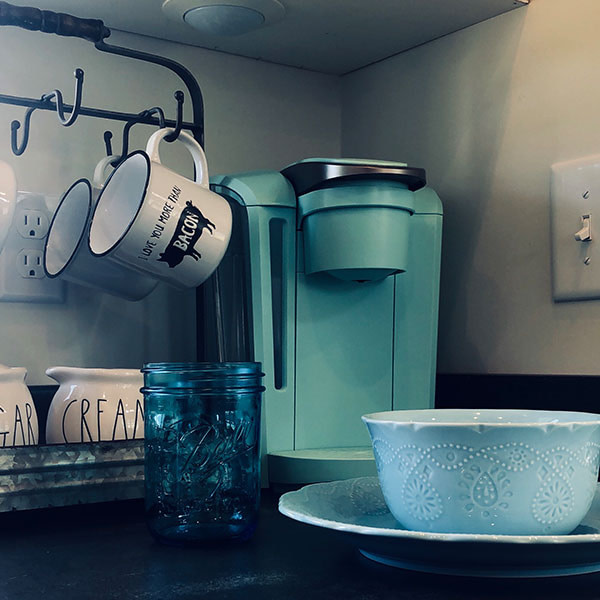 kitchen amenities in a tiny house in nashville tn
