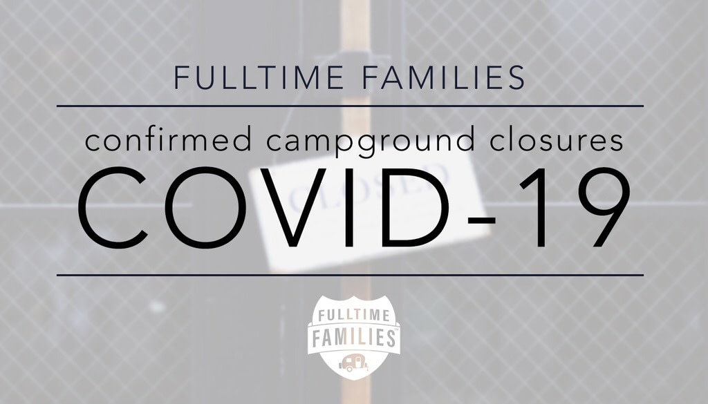 Covid-19 Campground Closures