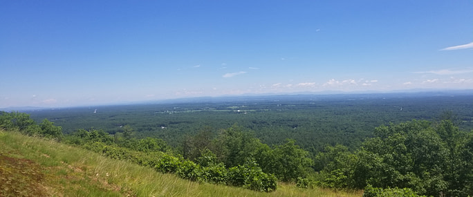 View of Catskills, Green Mountains and Adirondacks from Eastern Outlook of Grant Cottage