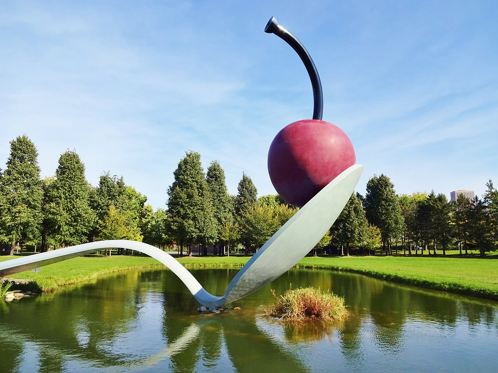 Cherry on a Spoon Sculpture