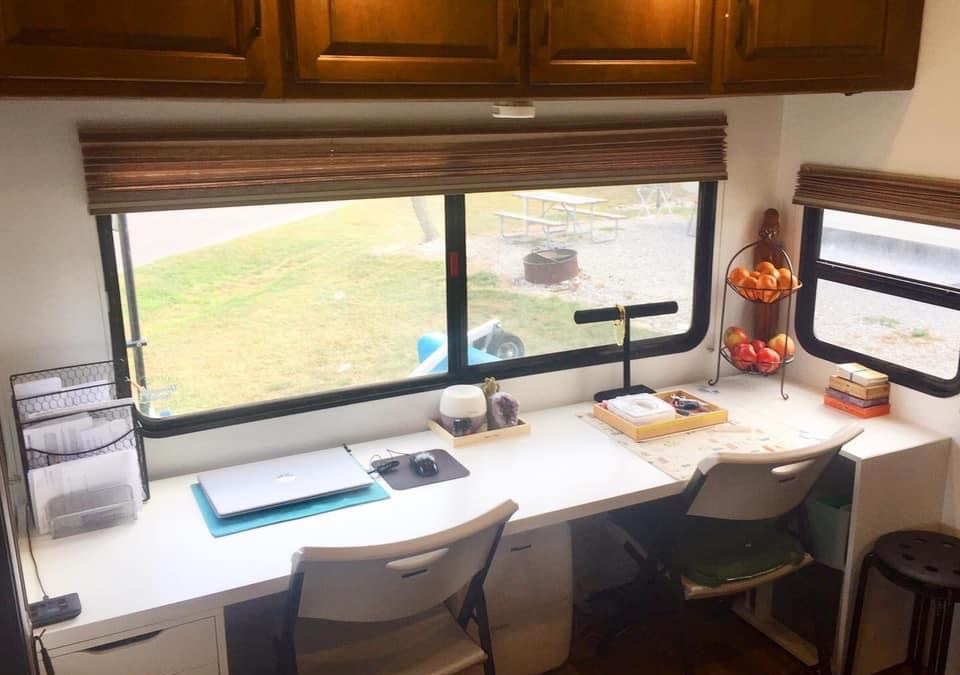 14 Creative RV Office and Workspace Ideas