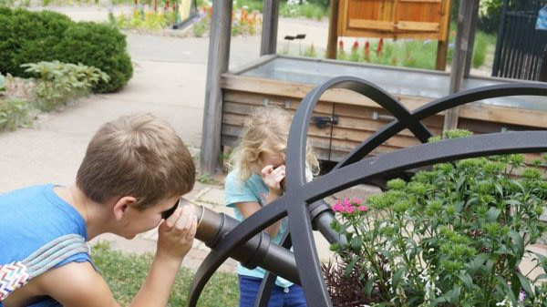 Children explore while parents save money
