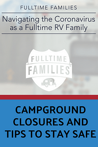 Coronavirus Campground Closures