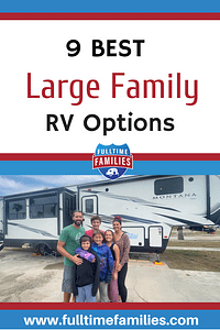 RVs for Large Families Pinterest Pin