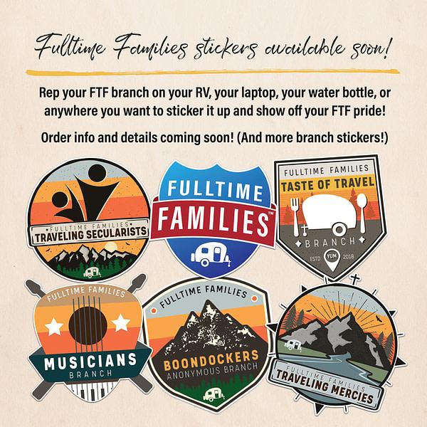 Fulltime Families Branch Sticker - Fulltime Families