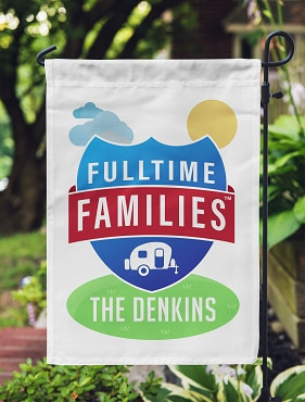 Fulltime Families Personalized Flag