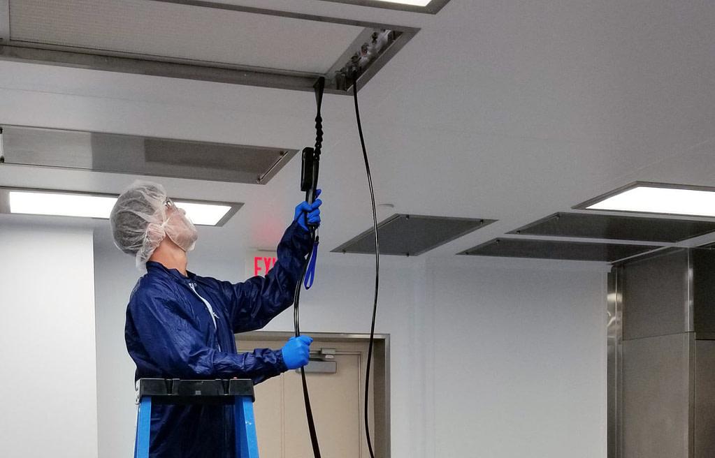 Cleanroom ventilation verification