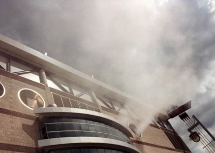 Fire at the Alamodome