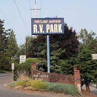 RV Camping Portland Oregon Portland Fairview RV Park Entrance
