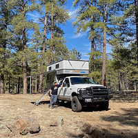 Flatbed truck campers