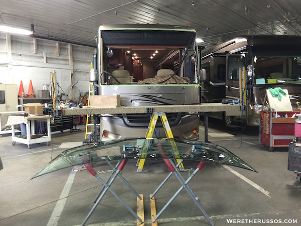 Class A RV Windshield Replacement