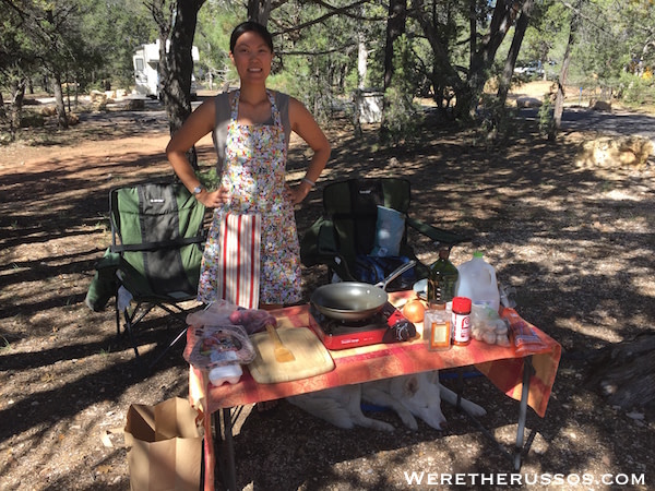 Cooking Outside at Grand Canyon South Rim
