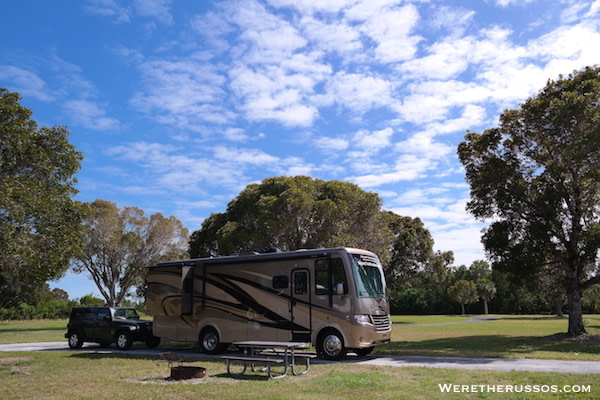 Flamingo Campground Everglades campsite 2