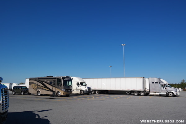 Overnight Parking Truck Stops