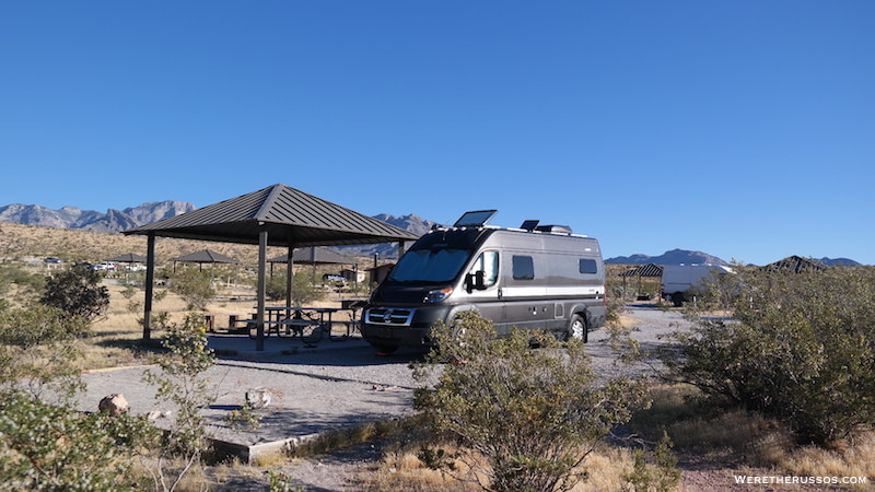 Red Rock Campground camper van site 3