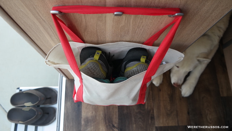RV Hacks - Canvas shoe bag