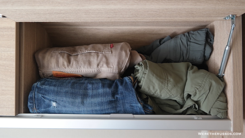 Roll clothes maximize space