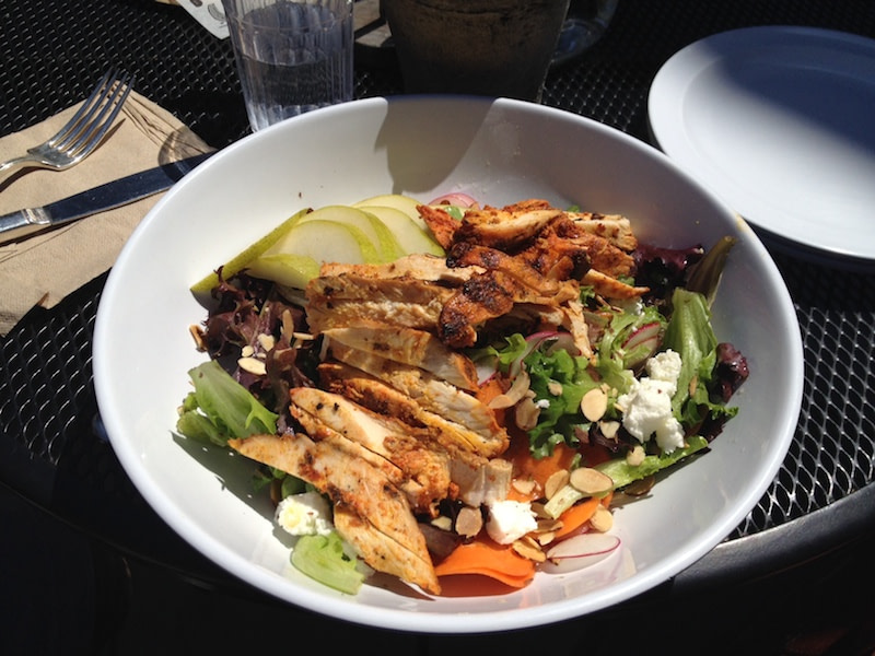 Lucky Penny market greens salad with chicken