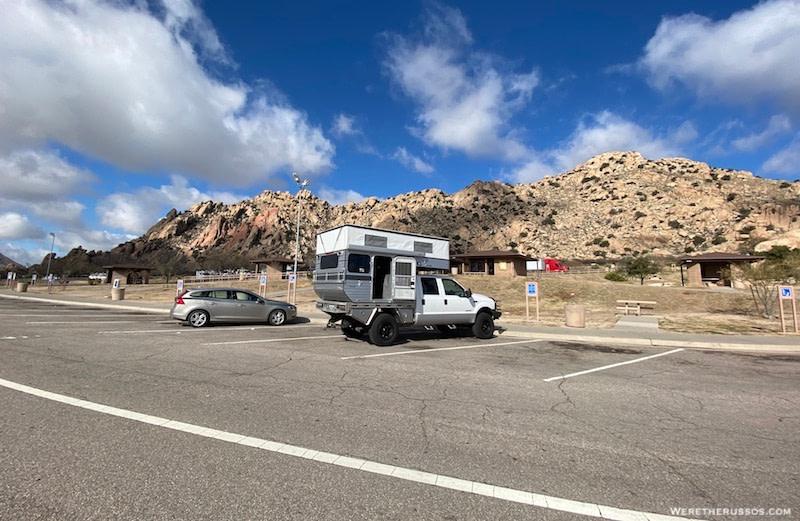 Arizona rest area parking