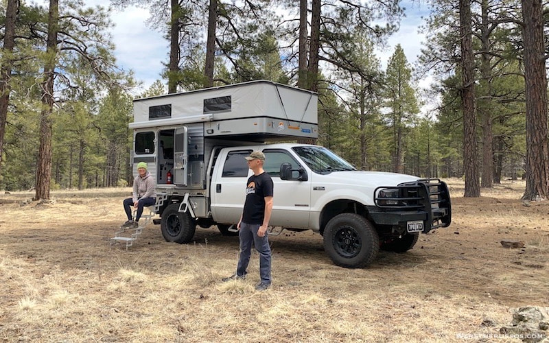 Four Wheel Camper Hawk Flatbed Our Overland Truck Camper We Re The Russos