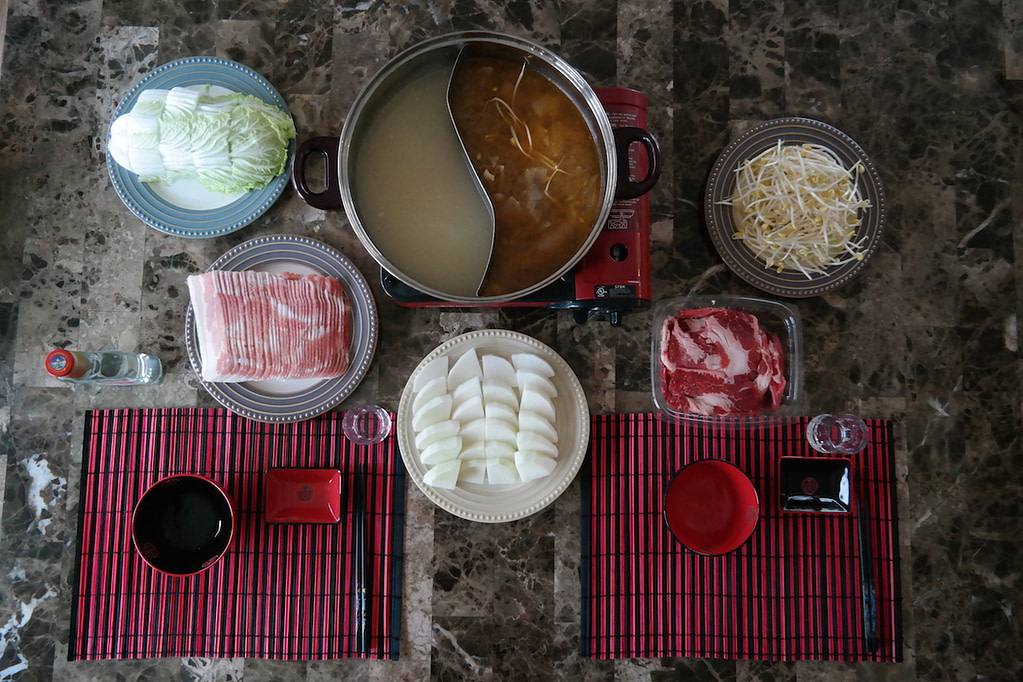 Chinese Hot Pot - Overhead