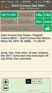 Allstays app free dumps station
