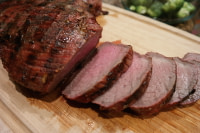 Marinaded tritip sliced