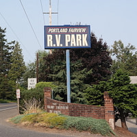 RV Camping Portland Oregon Portland Fairview RV Park Entrance
