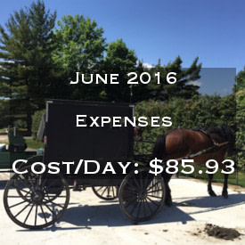 June 2016 Daily Expenses