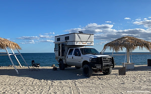 Beach Camping in Baja