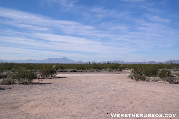 BLM camping Tucson AZ entrance
