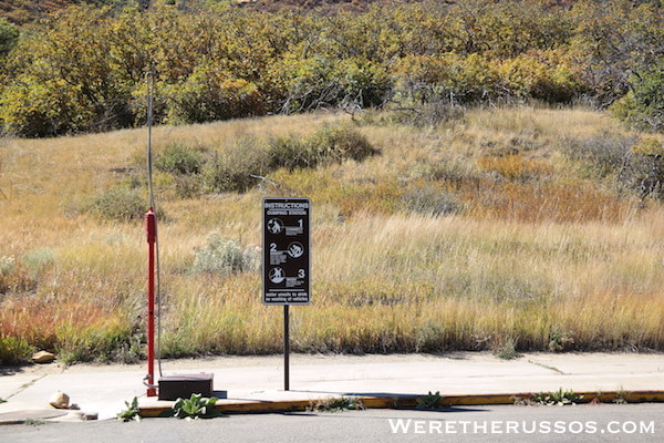 Morefield Campground dump station