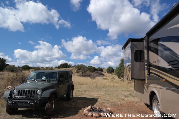 Free RV camping Flagstaff AZ