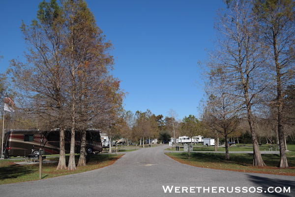 Bayou Segnette State Park campground