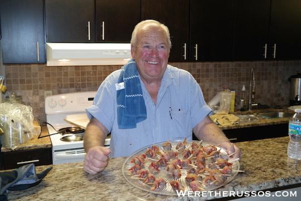 Lloyd bacon stuffed appetizers