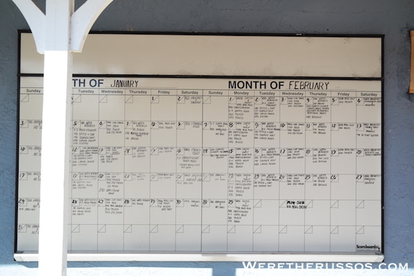 Winter Quarters Pasco RV Resort activities calendar