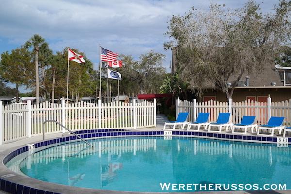 Space Coast RV Resort pool