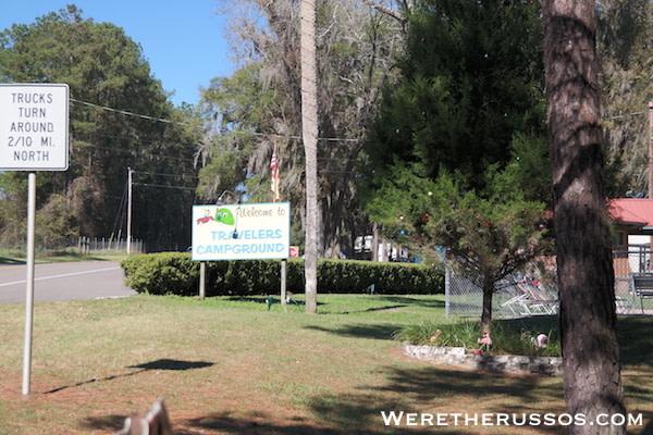 Travelers Campground Alachua Florida