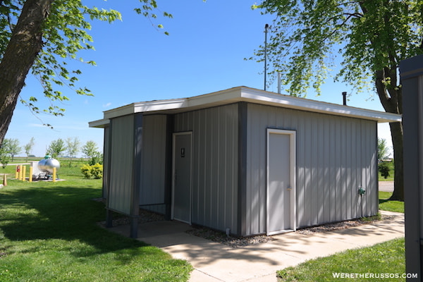 D&W Lake Camping RV Park Champaign bathhouse