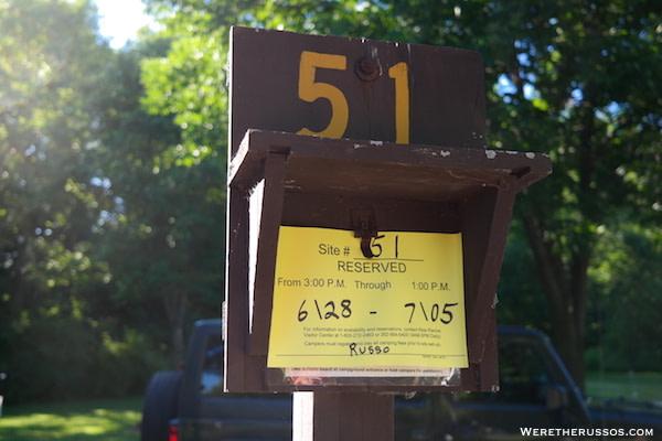 Cliffside Park reservation card