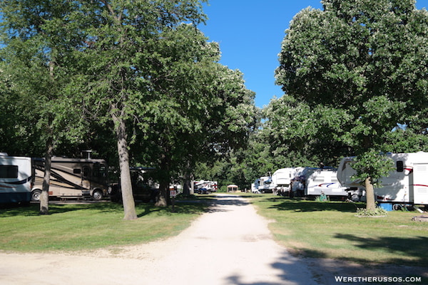 Pine Country RV Resort sites